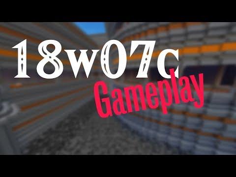 18w07c Gameplay | 1.13 Livestream {Minecraft}