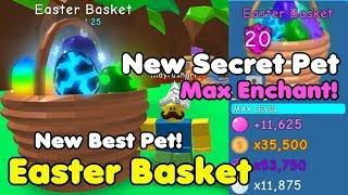 I Got New Secret Pet! Easter Basket! Max Enchant! New Best Pet! - Bubble Gum Simulator