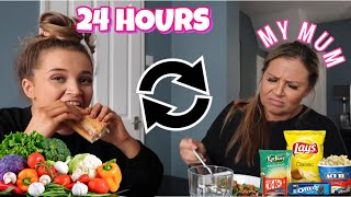 I SWAPPED DIETS FOR 24 HOURS WITH MY MUM! *extremely dramatic*