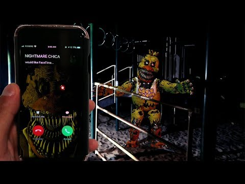 CALLING NIGHTMARE CHICA ON FACETIME AT 3AM | NIGHTMARE CHICA FOUND IN AN ABANDONED PLAYGROUND