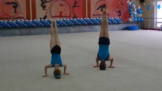 Спортивная акробатика. 3 разряд. Смешанная пара. Новосибирск