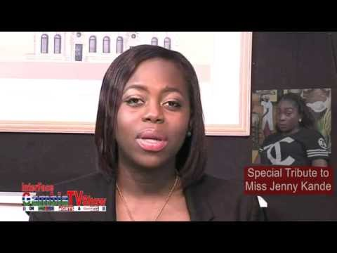 InterFace Gambia on Ben TV Fri 6th Nov15 With Joyce Stanley Special Tribute to Miss Jenny Kande