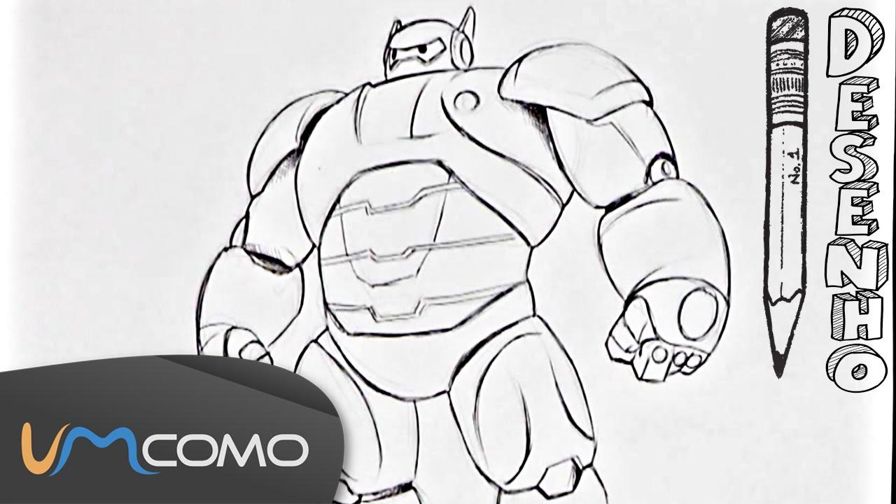como desenhar o robô de operação big hero 6 youtube