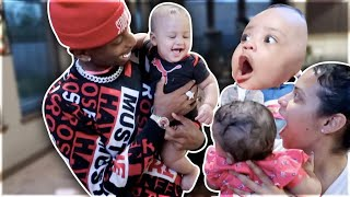 Baby CJ likes FUNNY MIKE & JALIYAH baby !