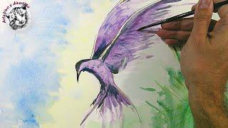 Acuarela para Principiantes: Cómo Pintar un Pájaro con Efectos