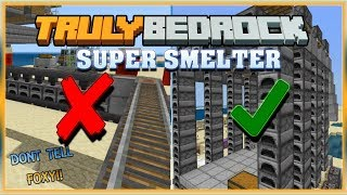 Truly Bedrock S0 EP25 : Super Smelter Upgrades [ Minecraft MCPE Bedrock Edition ]