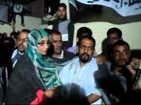 Aminattou Haidar in celebration of ali salem Tamek's release