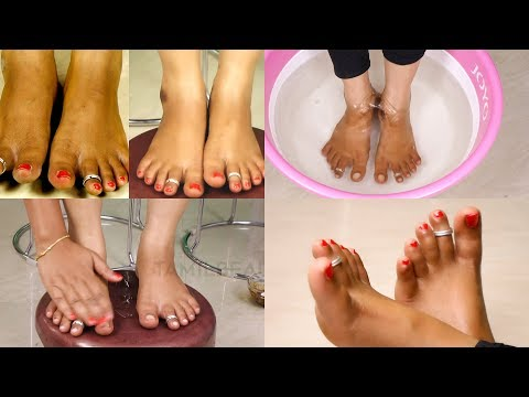 Feet Whitening Pedicure at Home - Remove Sun Tan & Whiten Your Skin