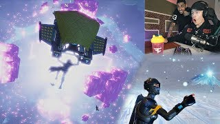 Fortnite CUBE Kevin EXPLOSION *NEW MAP* LIVE Reaction w/ FaZe Teeqo & FaZe Rain