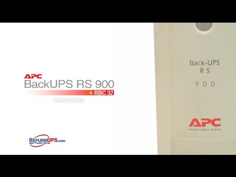 RBC32 Battery Replacement for APC BackUPS RS 900 - YouTube
