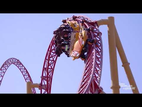 Velociraptor Roller Coaster at IMG World's Of Adventure in Dubai