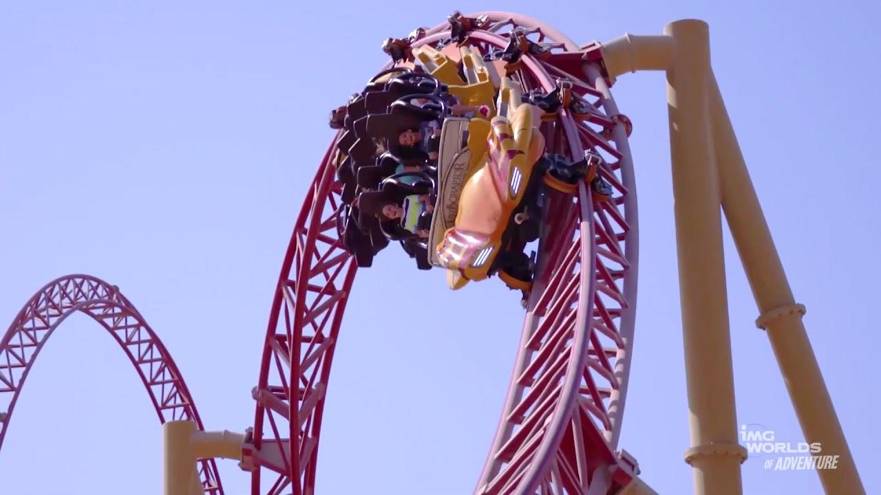 Velociraptor Roller Coaster at IMG World's Of Adventure in Dubai - YouTube