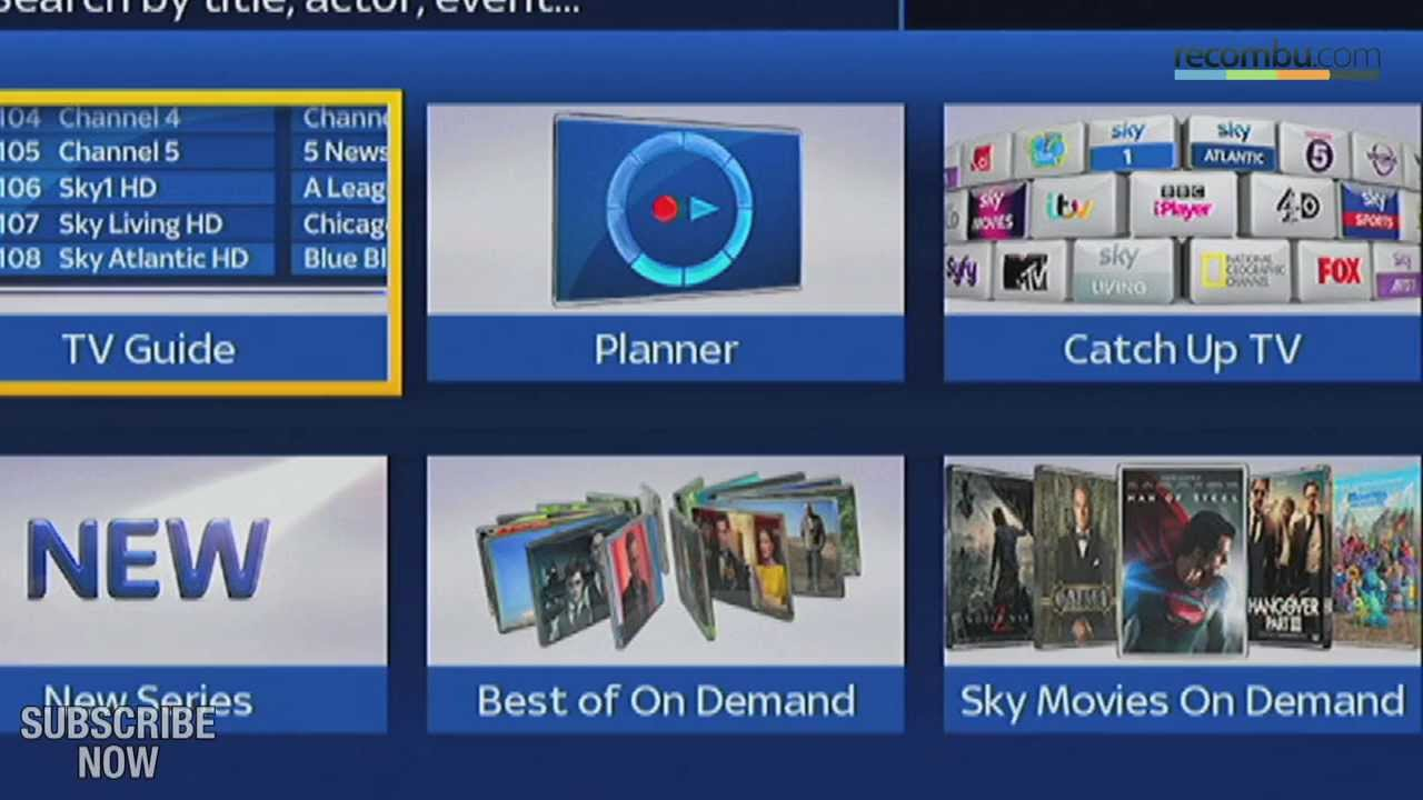 Sky+HD Update Hands-on: Search And On-demand Brought To