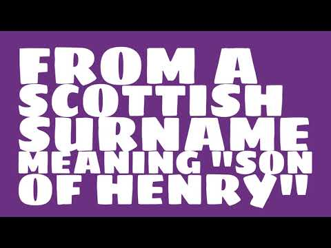 What is the origin of the name Henderson?