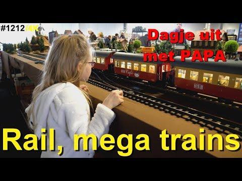 Modelling Railway Toy Train Scenery -Awesome RAIL 2018, treinen beurs te HOUTEN bij UTRECHT. Veel NS treinen, LGB en PIKO #1212