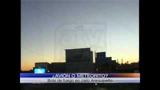 ¿Avión o meteorito? Inusual Fenómeno en Cielo Arequipeño