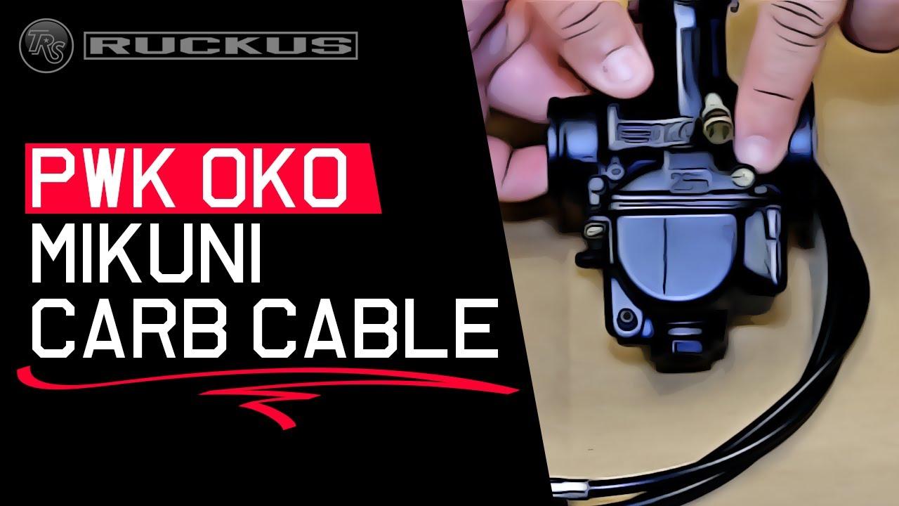 PWK OKO MIKUNI SLIDE CARB CABLE INSTALL
