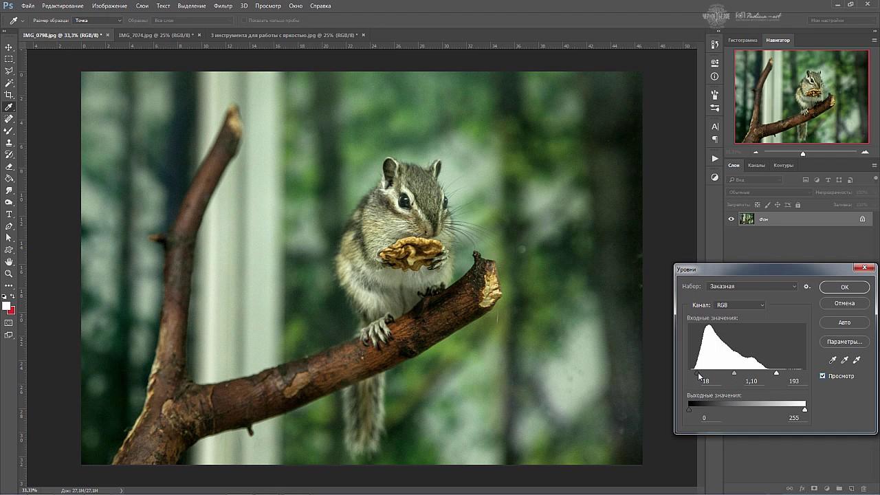 Видео урок Фотошоп - Яркость в фотошопе, Инструменты для ...