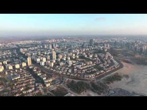 Dji phantom 4 drone in ashdod city
