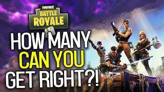 How Well Do YOU Know Fortnite: Battle Royale?! (Fortnite Quiz)