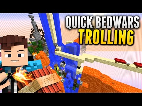 TROLLING: Minecraft QUICK BEDWARS - mit Sturmwaffel