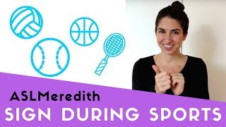 Learn Basic ASL Phrases For During Sports Game - in American Sign Language