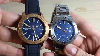 "Christopher Ward C60 Trident Comparison - ""Deep Blue Sea"" VS. ""Bronze"""