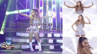 "7-year-old Xia performs ""Break Free"" like Ariana Grande"