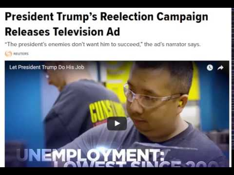 President Trump's Reelection Campaign Releases Television Ad-Hot news the world.