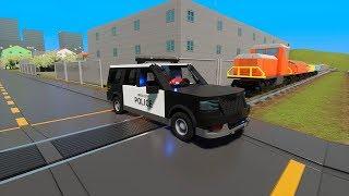 MASSIVE LEGO Police Cars, Trucks & Vans vs. Train - Brick Rigs Gameplay - Lego Toy Destruction