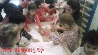 Toddlers Volcano Experiment