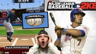 Can DAVID ORTIZ or A-ROD Hit a 500ft Home Run? MLB2K8 Gameplay