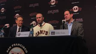 Evan Longoria details first interactions with new Giants teammates including Posey, Bumgarner