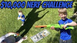 $10,000 Nerf Gun Challenge