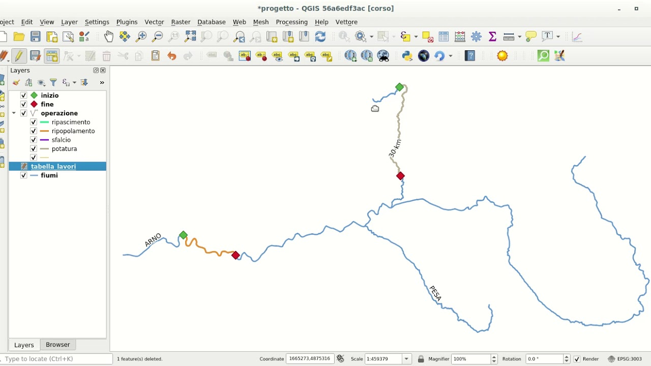 LRS, Linear Reference System in QGIS with Virtual Layers