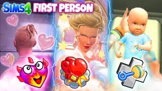WOOHOO?❤️ BIRTH!? 🍼 - 10 Creepiest FIRST PERSON Sims 4 Things To Do!