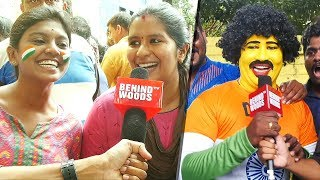 Whistle Podu! IND vs AUS ODI at Chepauk | Thala Dhoni Fans go Crazy! |DC91