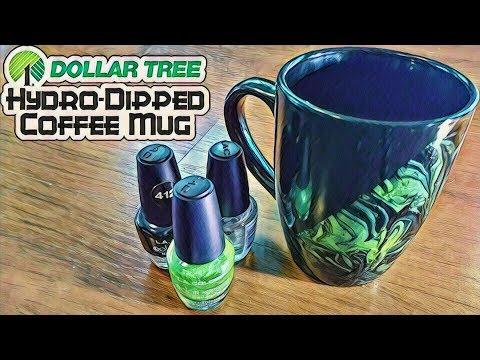 Dollar Tree Hydro-Dipped Coffee Mug - DIY with Cly Ep. 6
