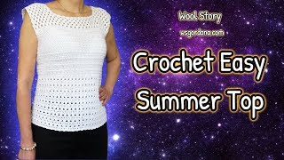 DIY How to Crochet Easy Summer Top - Heklana bluza