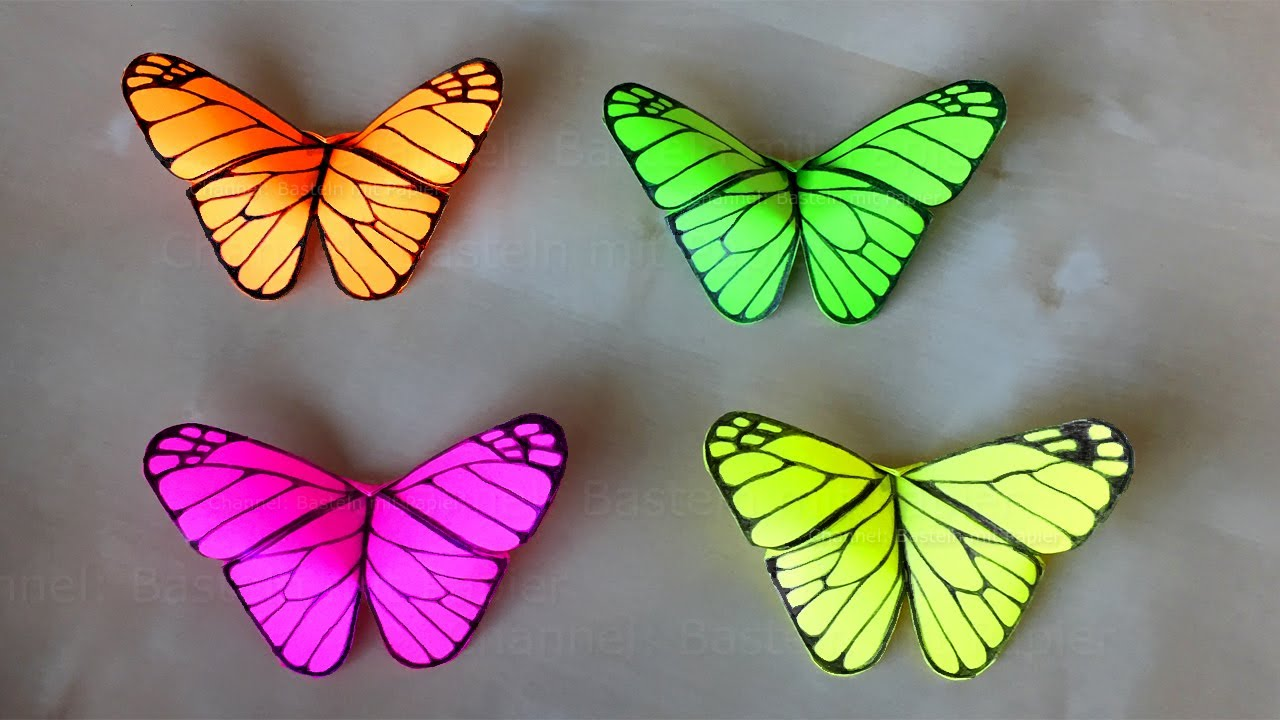 Bastelideen Schmetterling Origami Butterfly Room Decor Origami For Beginners Wall Decorating Ideas Diy Gift Idea