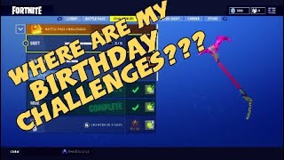 Fortnite's 1st Birthday Challenges Glitch | Fortnite