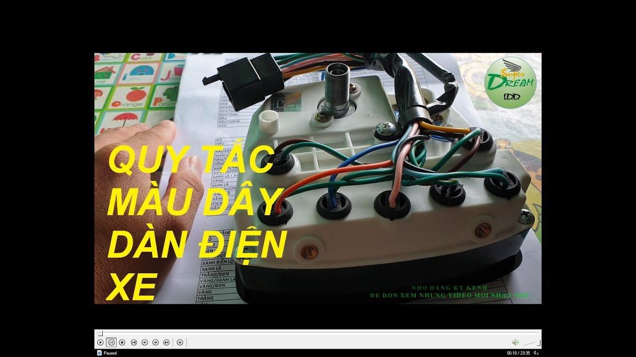 SuperDream LDD – Bảng màu dây điện xe máy cho anh em thích độ chế