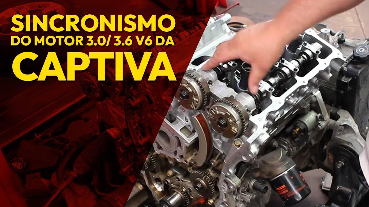 sincronismo v6 motor captiva chevrolet comando da corrente