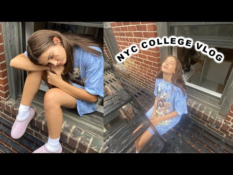 COLLEGE DAY IN MY LIFE IN NYC : school is boring ugh