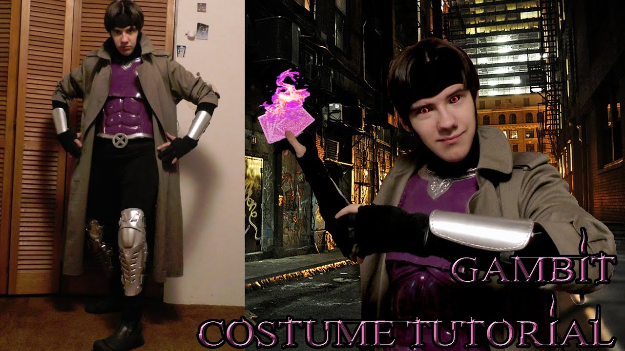 How to gambit costume tutorial x men halloweencosplay mask chest how to gambit costume tutorial x men halloweencosplay mask chest plate belt gloves and boots youtube solutioingenieria Images