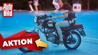 Suzuki 125er (2021)|Mit dem Motorrad durch's Wasser |Reportage mit Jan Horn