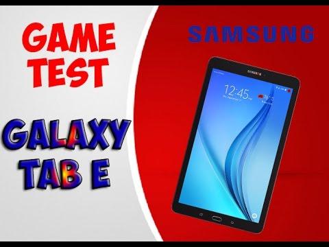 Game Test Samsung Galaxy Tab E | Игровой тест Samsung Galaxy Tab E