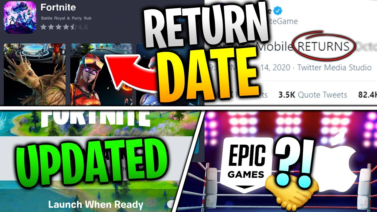 Fortnite Mobile Return Date CONFIRMED! iOS Updated? Epic and Apple AGREED