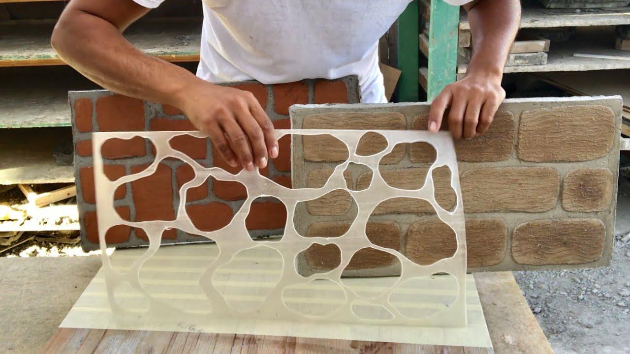 Como hacer plantillas para estampados en cemento how to - Plantillas para la pared ...