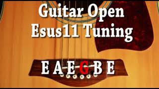 Guitar Open Esus11 Tuning E A E G B E